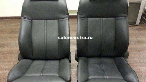 E65 передние сидения (черные)