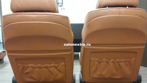 E65 передние сидения (рыжие)